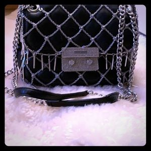 Limited Edition blk Michael Kors purse w/Swarovski